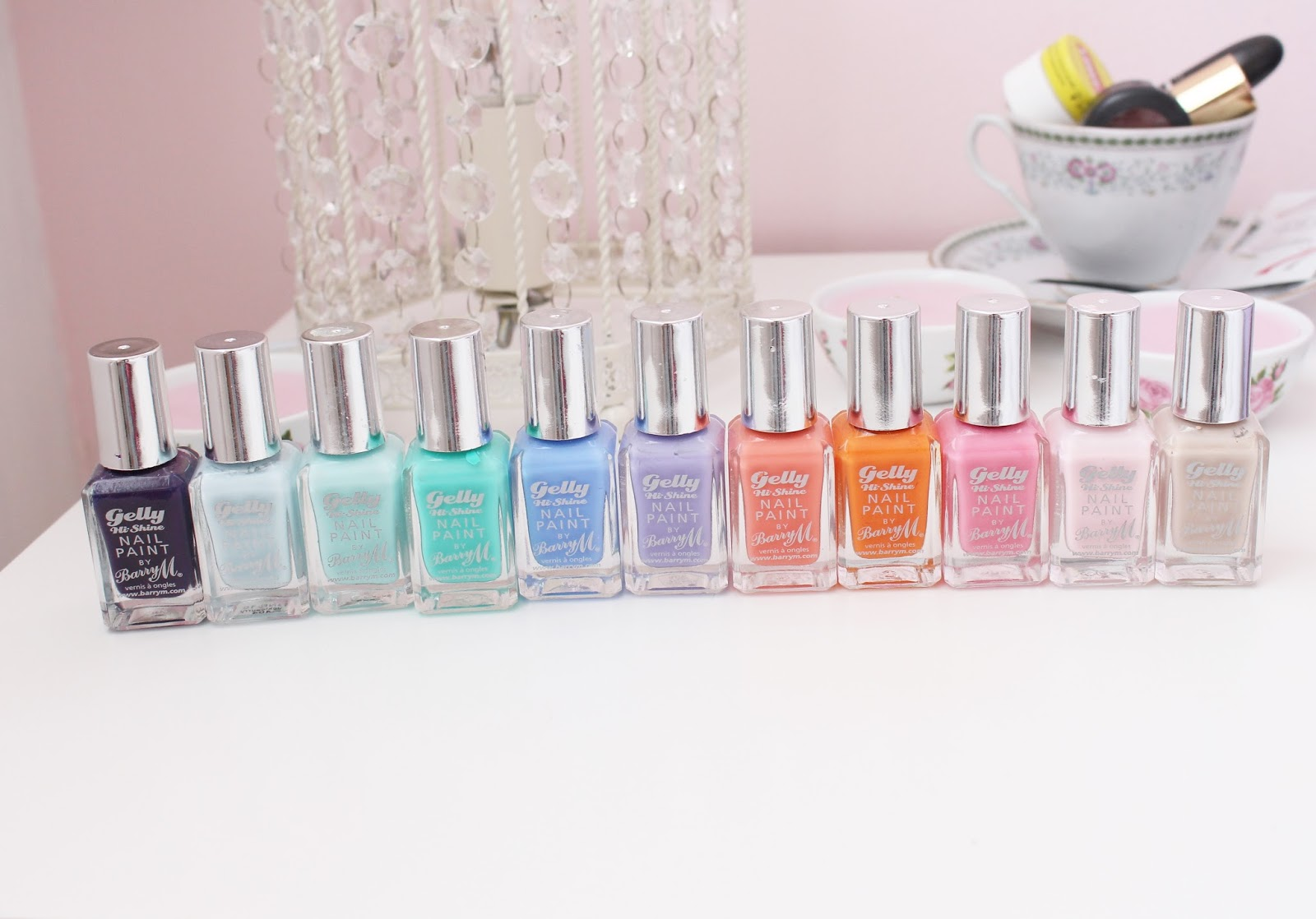 Barry M Hi-Shine Gelly Nail Polish Collection
