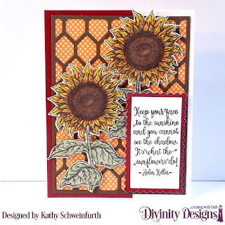 Stamp/Die Duos: Be a Sunflower, Custom Dies: Chicken Wire Background, Scalloped Rectangles, Rectangles, Paper Collection: Fall Favorites