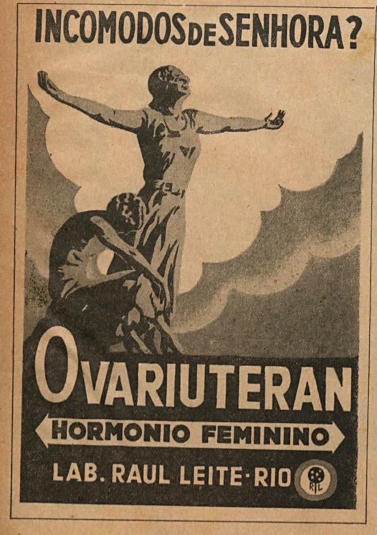 Propaganda antiga do Ovariuteran veiculada em 1935