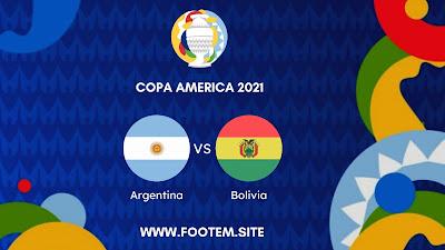 Argentina vs Bolivia Copa America Zona Sur - Round 5