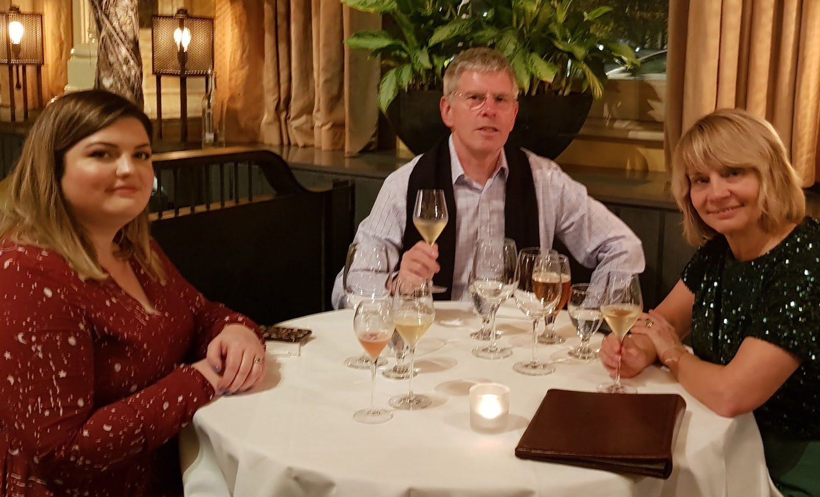 Dining at The Gilbert Scott Restaurant in London:  Is This Mutton's Gail Hanlon with husband and stepdaughter.