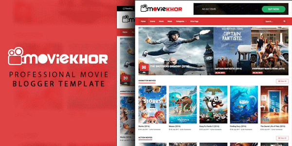 Moviekhor Movie Blogger Template Free Download