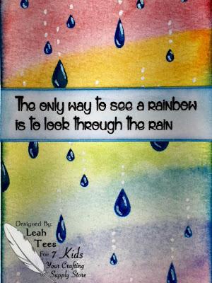 Rainbows art journal, 7 Kids, Leah Tees