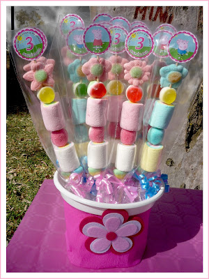 brochetas chuches Peppa Pig