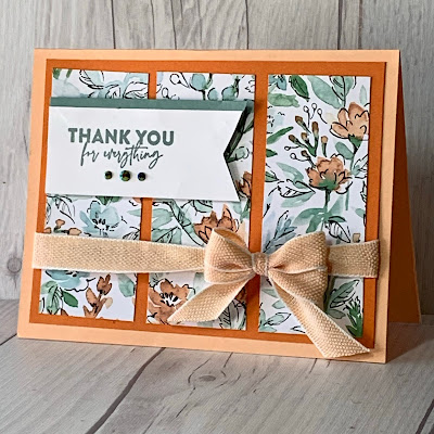Stampin' Up! thank you card using Flowers of Friendship Stamp Set