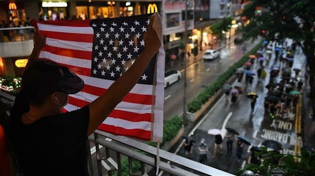 China slams 'gross interference' by the United States in Hong Kong