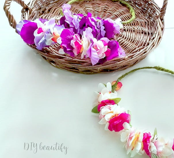 colorful flower crowns that you can make