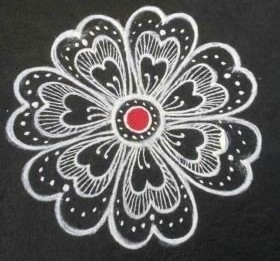 easy colourful rangoli designs