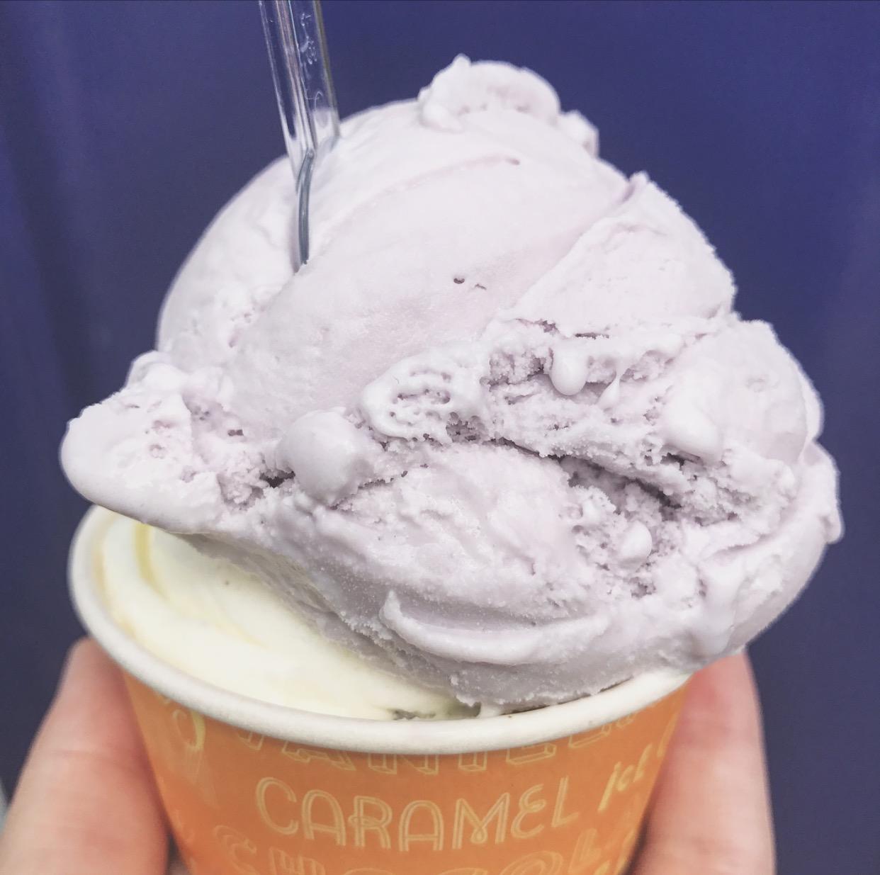 parma violet ice-cream