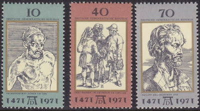 Germany DDR 1971 Albrecht Dürer Painter Death Anniversary Set