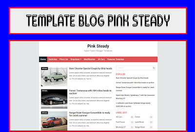 Pink Steady Blogger Template Responsive Free Download