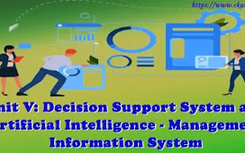 Unit V: Decision Support System and Artificial Intelligence - Management Information System