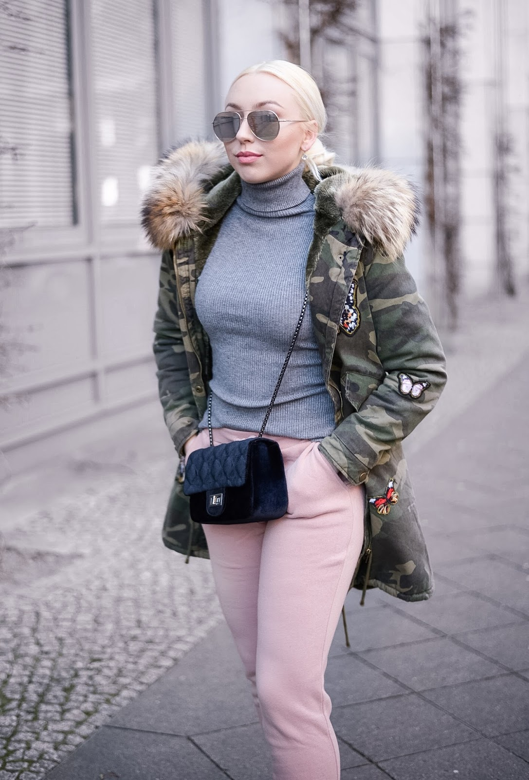joggers streetstyle_fur parka_camouflage parka