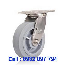 Bánh xe inox 304 Colson, bánh xe cao su chịu tải 158kg đến 305kg/bánh www.banhxedayhang.net