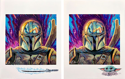 "The Mandalorian ""Mando"" Star Wars Remarque Edition Fine Art Prints by Rich Pellegrino x Gallery 1988"