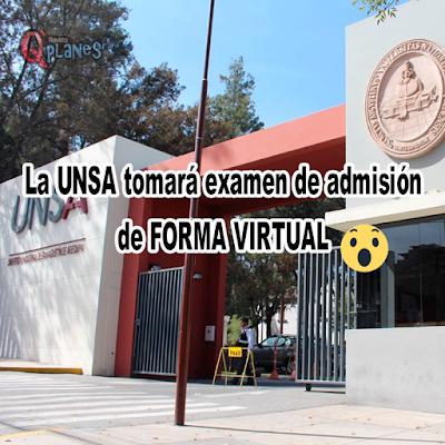 Examen de admision virtual UNSA