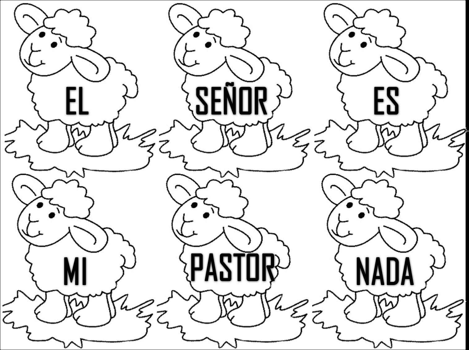 Dibujo De La Palabra Otoño Para Colorear Con Los Niños: El Señor Es Mi Pastor