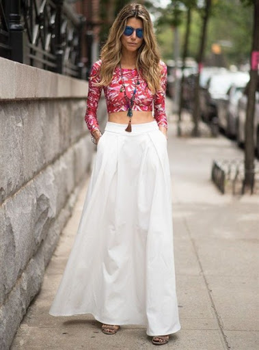 51174577f3 Maxi Skirt Outfit Ideas for Spring or Summer 2017-2018 …