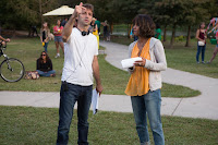 Halle Berry and Luis Prieto on the set of Kidnap (15)