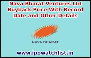 Nava Bharat Ventures Buyback