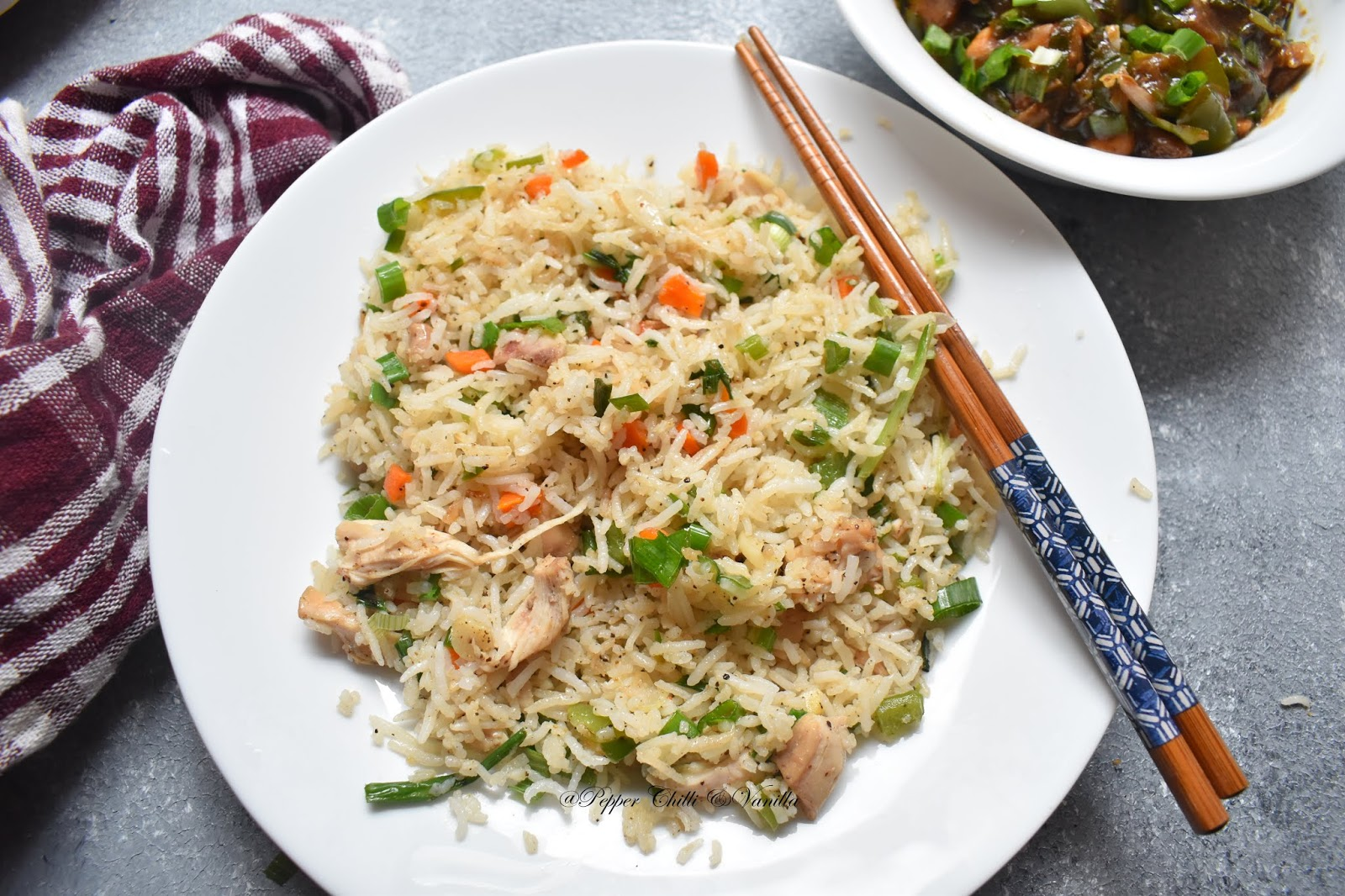Chicken fried rice recipe restaurant style chinese fried rice how to make perfect fried rice ccuart Image collections