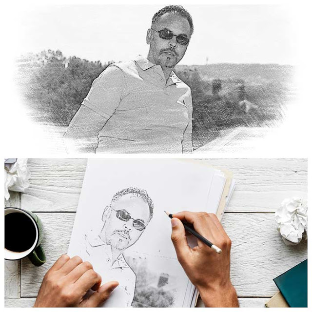 Conversion d'une photo JPG en crayon à papier