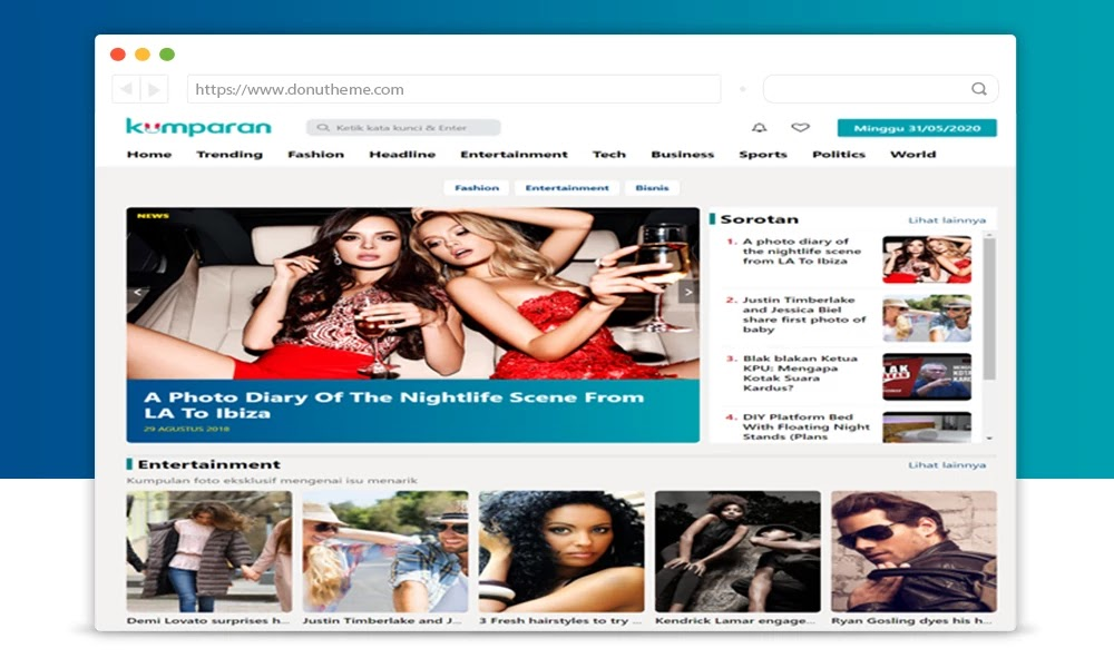 Kumpuran Responsive Blogger News Template
