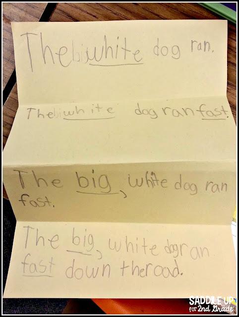 Expanding Sentences Saddle Up For Second Grade