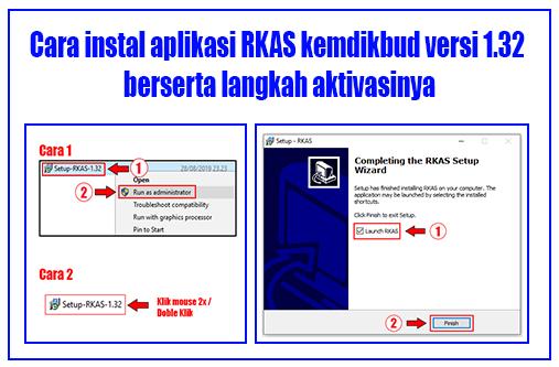 Cara instal aplikasi RKAS kemdikbud versi 1.32 berserta langkah aktivasinya