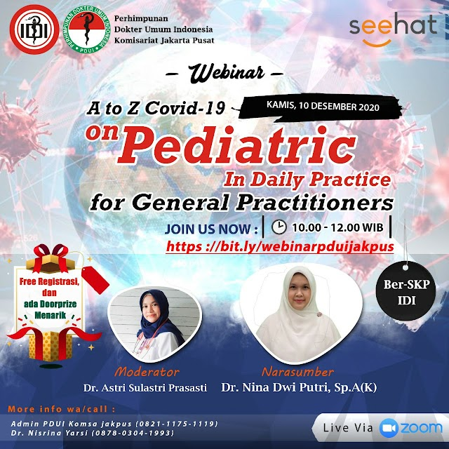 "Webinar ""A to Z Covid-19 on Pediatric in daily practice for general practitioners"""