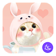 Cute Pink Kitten-APUS Launcher free fashion theme