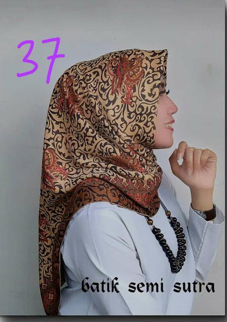 Jilbab Batik Semi Sutera motif terbaru Batik jepara