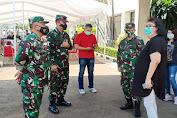 Pengecekan Serbuan Vaksinasi oleh Dandim 0505/JT Bersama Staf Ahli Pangdam Jaya di PT.United Tractors