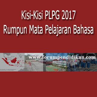 Kisi-Kisi PLPG 2017 Mata Pelajaran Rumpun Bahasa