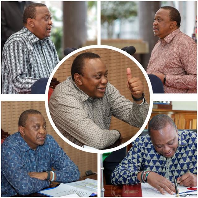 President Uhuru Kenyatta Shows off kenyan made shirts