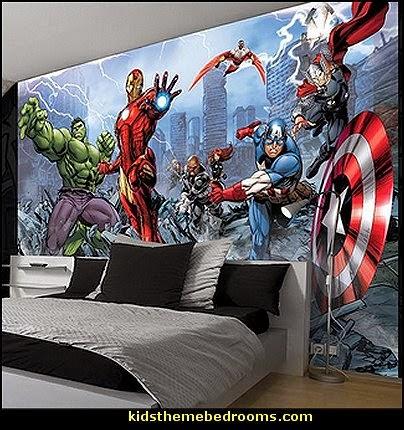 Dc Superhero Girls Bedroom Wallpaper Decorating Theme Bedrooms Maries Manor Captain America