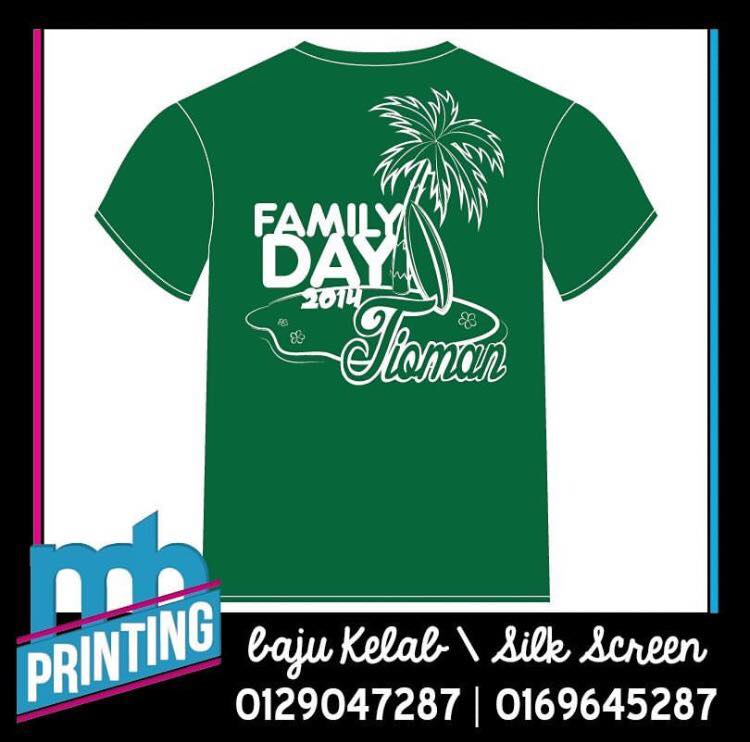 Hazwan Hairy Printing Baju Family Day Cetak Baju Murah