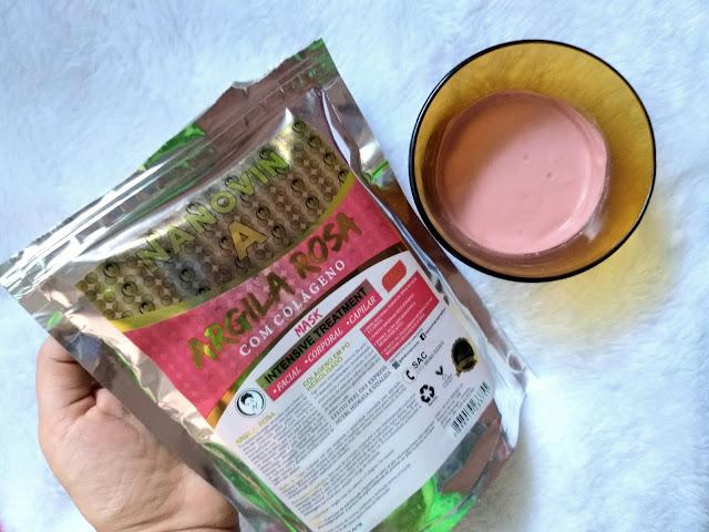 Argila rosa para pele