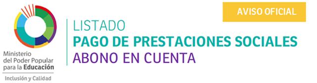 LISTADOS DE PRESTACIONES SOCIALES AÑO 2017