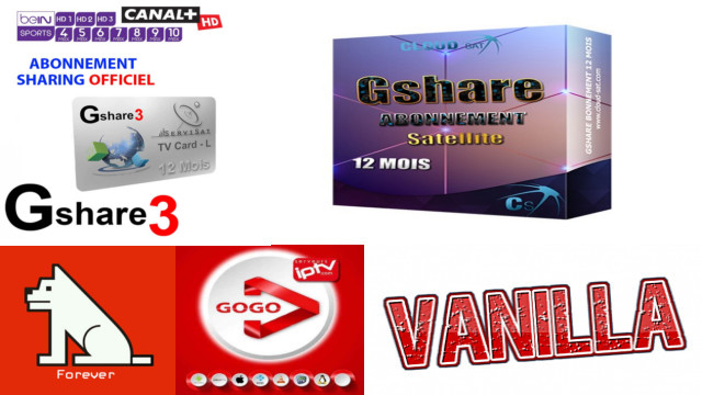 GSHARE FUNCAM VANILLA FOREVER و IPTV SSTV تجديد الاشتراك لجميع أجهزة الاستقبال
