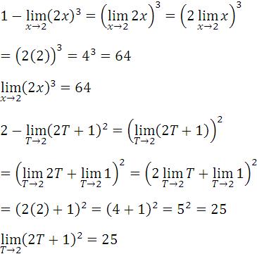 Limite de funciones elevadas a exponente n positivo