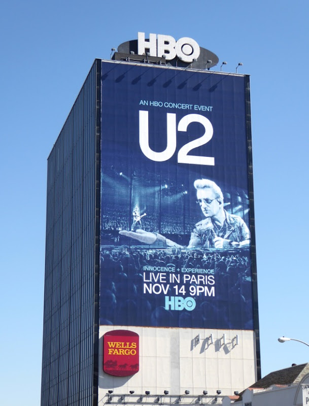 U2 Innocence Experience Live in Paris HBO concert billboard