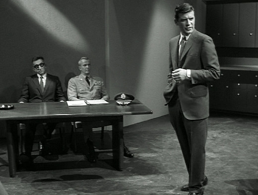 Peter Breck as Sen. Orville, O.B.I.T., The Outer Limits, 1963
