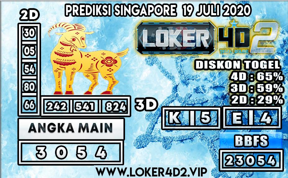 PREDIKSI TOGEL LOKER4D2 SINGAPORE 19 JULI 2020