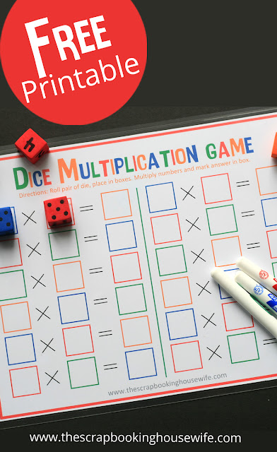 Dice Math Games for Kids Free Printables by Ellabella Designs