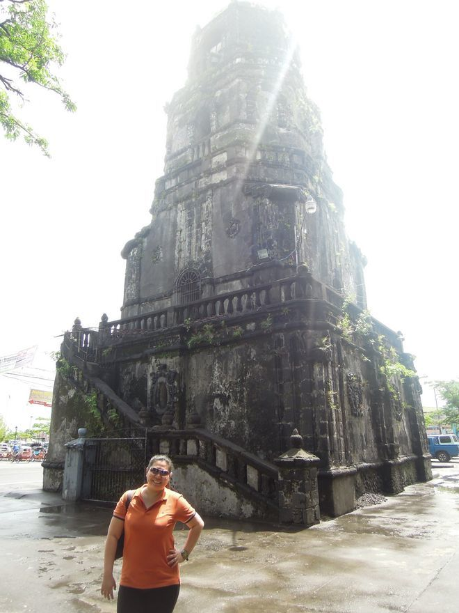 The bell tower of Tabaco Church in Albay