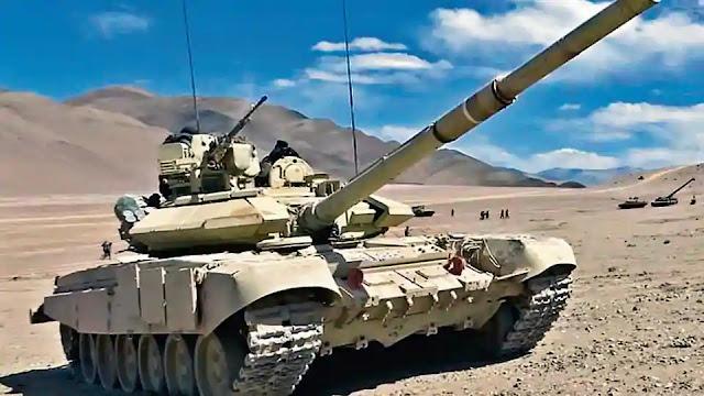 Indian army t-90 bhishma MBT