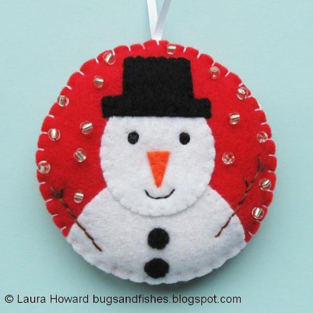 felt snowman bauble