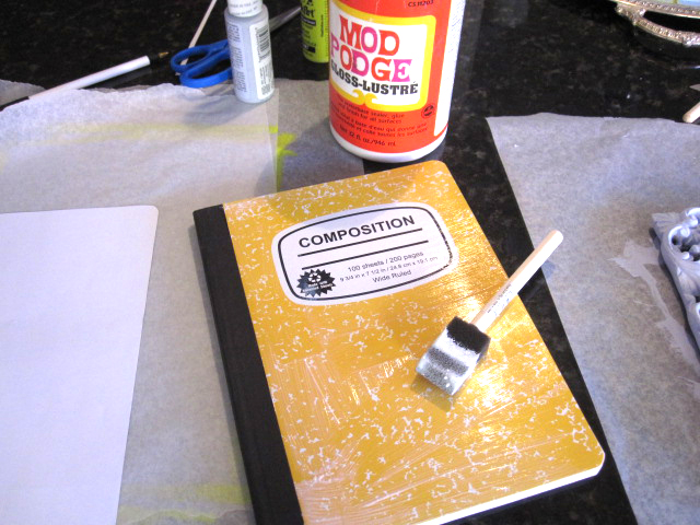 Cathie Filian Diy Altered Composition Notebook With Mod Podge