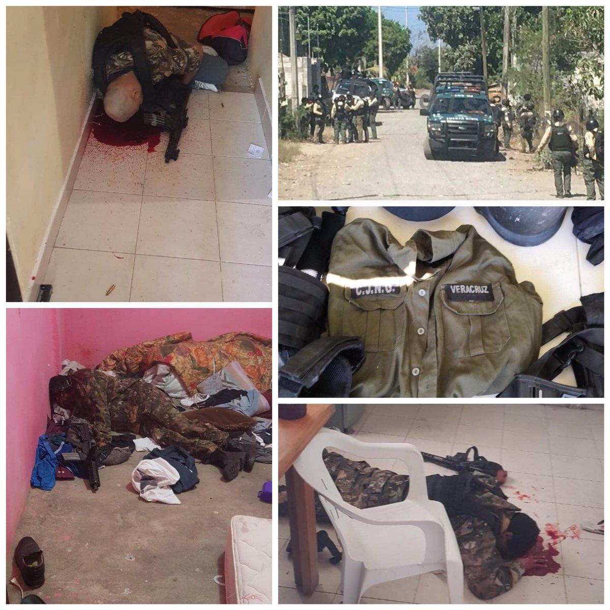 Imagenes de la Batalla, Fuerza Civil abate a 3 Sicarios del CJNG en Zempoala, Veracruz
